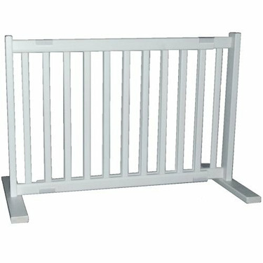 Small Free Standing Pet Gate - Warm White
