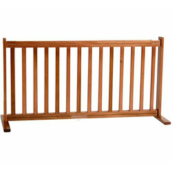 Large Free Standing Pet Gate - Medium Cherry