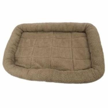 Fleece Crate Dog Bed Mushroom 47.75 x 29.75