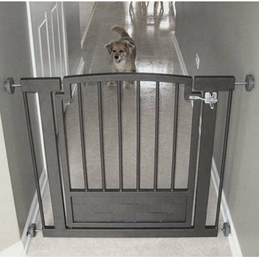 Metal Hallway Dog Gate - Mocha