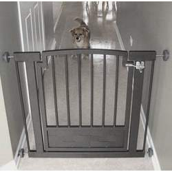 Metal Hallway Dog Gate - Mocha