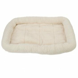 Fleece Crate Dog Bed Natural 23.75 x 16.75
