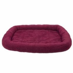Fleece Crate Dog Bed Burgundy 29.75 x 20.75