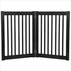 "Two 32"" Panel Free Standing Pet Gate in Black"