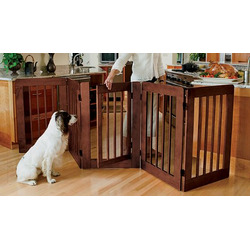 Paneled Gate With Door / Large Two-panel Gate , Mahogany, Large