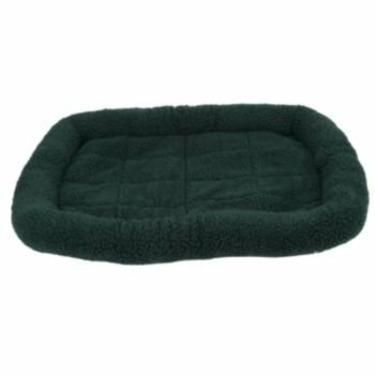 Fleece Crate Dog Bed Hunter Green 41.75 x 27.75