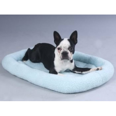 Fleece Crate Dog Bed Baby Blue 47.75 x 29.75