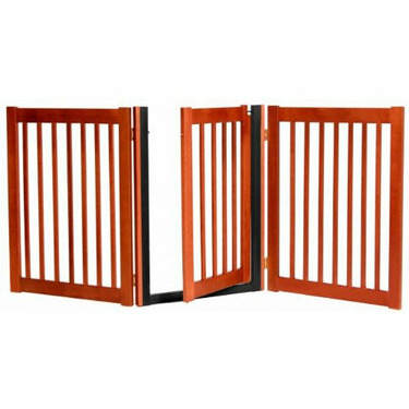 """32"""" Walk-Through 3 Panel Free Standing Gate by Dynamic Accents (Color=Black)"""