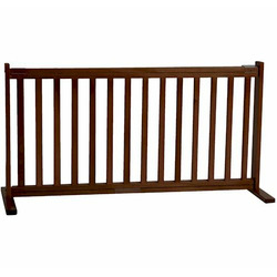 Large Free Standing Pet Gate - Mahogany