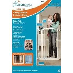 Extra-Tall Swing Close Security Gate w/extensions White