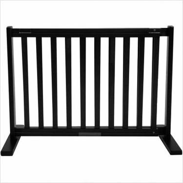 Freestanding Pet Gate 20 Inch Small Black