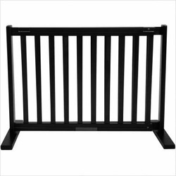 Freestanding Pet Gate 20 Inch Small Black