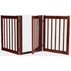 "32"" Wood Free Standing Walk-Through Gate (3-Panel - Mahogany)"