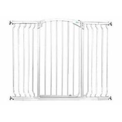 Dream Baby Tall Hallway Swinging Gate Combo Pack - (38'' - 53'') White