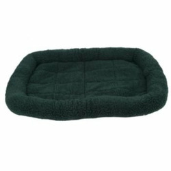 Fleece Crate Dog Bed Hunter Green 47.75 x 29.75