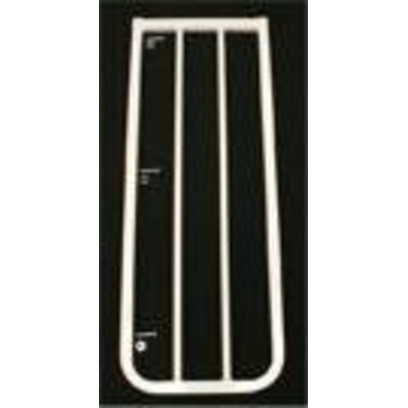 """10 1/2"""" extension for the Stairway Special Baby Gate Colors: Black"""