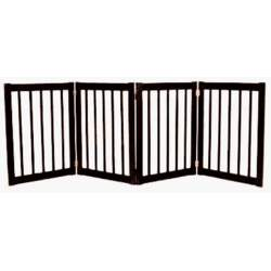 Dynamic Accents 42423 - 32 Inch 4 Panel Free Standing EZ Gate - Black