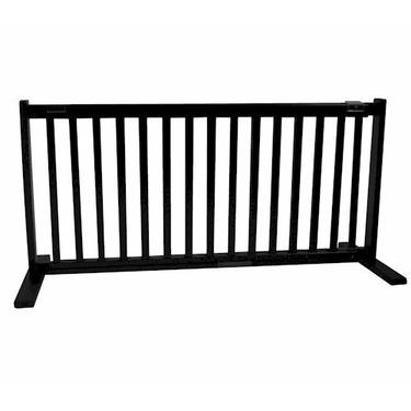 Large Free Standing Pet Gate - Black