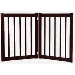 "27"" Wood Free Standing EZ Gate (2-Panel - Antique Black)"