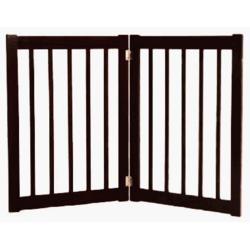 Dynamic Accents 42422 - 32 Inch 2 Panel Free Standing EZ Gate - Black