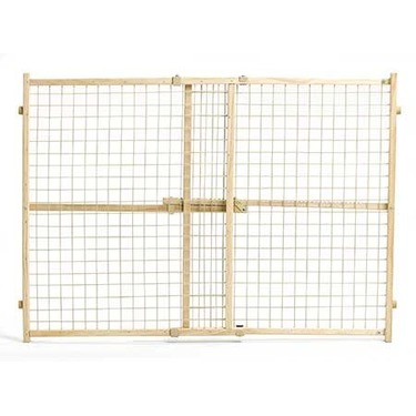 "Midwest Wood/Wire Mesh Pressure Pet Gate 29-50"" Wide 32"" High"
