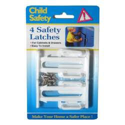 New 4 Pk Cabinet Drawer Latches Child Safety Protection