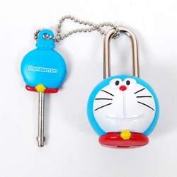 Doraemon Figure Mini Lock Key Security Toy Blue