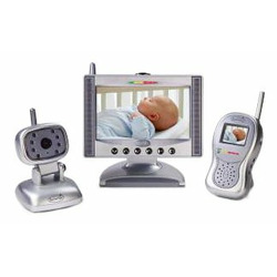 "Summer Infant Complete Coverage Color Video Monitor Set with 7"" LCD Screen and 1.8"" Handheld Unit"