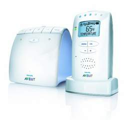 Philips AVENT DECT Baby Monitor with Temperature Sensor and New Eco Mode, White