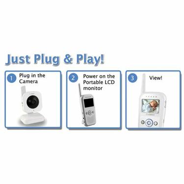 Lorex LW2002W Portable LCD Wireless Surveillance System (White)