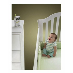 Fisher-Price Musical Digital Color Video Baby Monitor with Remote Control, 2.4 GHz - White/Grey