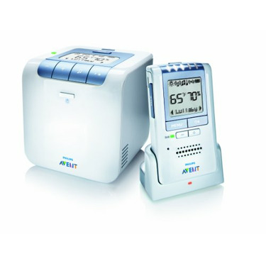 Philips AVENT Baby Monitor with Temperature and Humidity Sensors and New Eco Mode, White