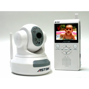 """Astak 2.4 GHz Pan & Tilt Baby Camera with 2.5"""" LCD Color Handheld Monitor with Night Vision"""