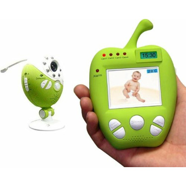 Digital Wireless Video Audio Baby Monitor with Night Vision, Lullabies, Celsius Temperature and Motion Alarm and One Camera Set
