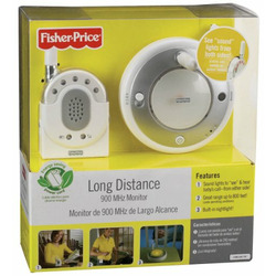 Fisher-Price Long Distance Baby Monitor, 900MHz - White/Grey