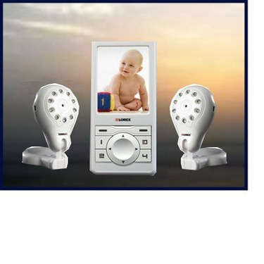 2 Camera Lorex Auto Scan, Audio-Visual, Baby Monitor with 2 Way Communication, and Photo Capaility