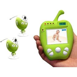 Digital Wireless Video Audio Baby Monitor with Auto Switching, Night Vision, Lullabies, Temperature, Motion Alarm and 2x Camera Set