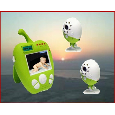 Safe Baby Green Apple 2 Camera Digital Monitor With Auto-Scan