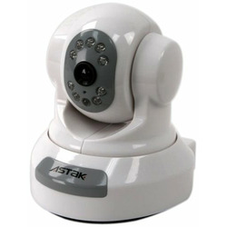 Astak H.264 Pan & Tilt Camera Monitoring System with Night Vision with SD Card Slot