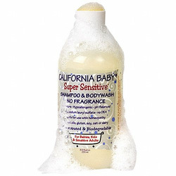 California Baby Super Sensitive Shampoo and Body Wash, No Fragrance, 8.5 Ounce Bottle