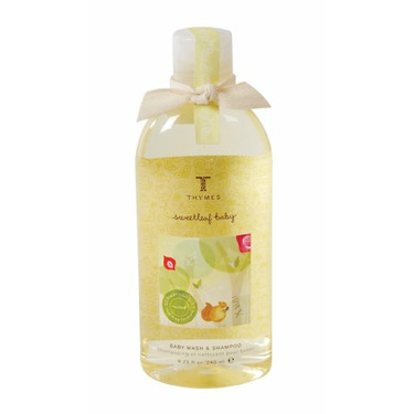 Thymes Sweetleaf Baby Wash & Shampoo, 9.25-Ounce Bottles (Pack of 2)