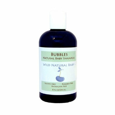 Wild Natural Baby Bubbles Natural Baby Shampoo - Sulfate Free, Paraben Free, Phthalate Free - 8 oz. Bottle by Wild Natural Beauty