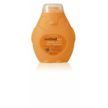 Method Kids 3-in-1 Shampoo Fuzzy Peach, 10-ounceBottles (Pack of 6)