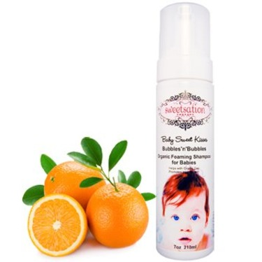 Baby Sweet Kisses Bubbles'n'Bubbles Organic Foaming Shampoo for Babies, 7oz