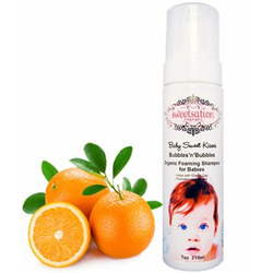 Baby Sweet Kisses Bubbles'n'Bubbles Organic Foaming Shampoo for Babies, 7oz