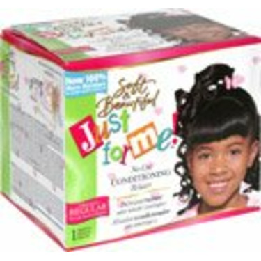 Soft & Beautiful Just For Me No-Lye Conditioning Relaxer Regular, (Pack of 3)