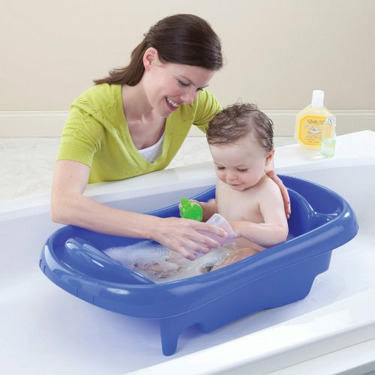 The First Year's Infant To Toddler Tub with Sling Blue
