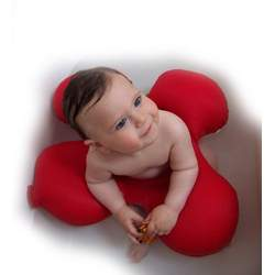 Papillon Baby Bath Tub Ring Seat (Red)