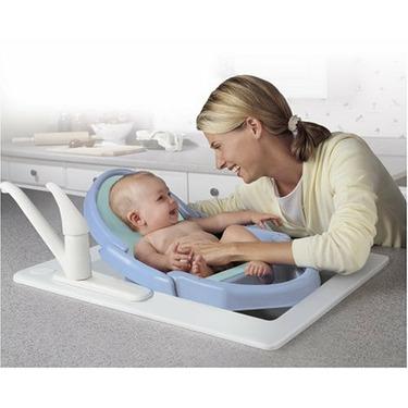 Safety 1st Space Saver Fold Up Bath Tub, Blue