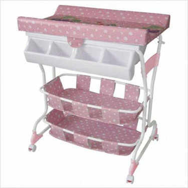 BabySpa Deluxe Bathtub and Changer Combo in Pink